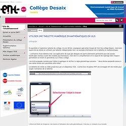 Utiliser une tablette numérique en mathématiques en ULIS