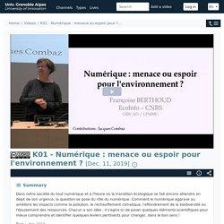 POD - K01 - Numérique : Menace Ou Espoir Pour L'...