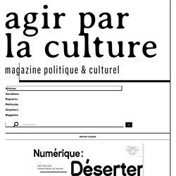 Numérique: Vers un travail en micromiettes? — Entretien avec Antonio A. Casilli : Agir par la culture
