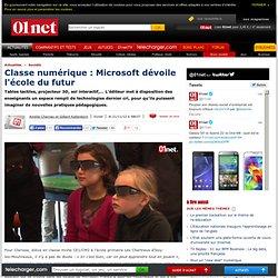 Microsoft dévoile l'école du futur