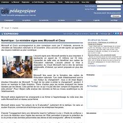Numérique : Le ministère signe avec Microsoft et Cisco