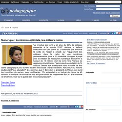 Numérique : La ministre optimiste, les éditeurs moins