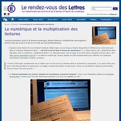 Le numérique et la multiplication des lectures - Le rendez-vous des Lettres