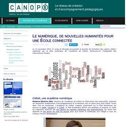 Canopé Créteil - Le numérique, de nouvelles humanités pour une École connectée