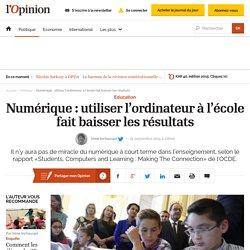Numérique: utiliser l'ordinateur à l'école fait baisser les résultats