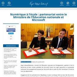 Numérique à l'école : partenariat entre le Ministère de l'Éducation nationale et Microsoft