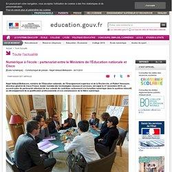 Numérique à l'école : partenariat entre le Ministère de l'Éducation nationale et Cisco