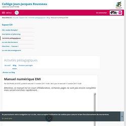 Manuel numérique EMI - Activités pédagogiques - Collège Jean-Jacques Rousseau
