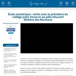 École numérique : visite avec le président du collège Jules Verne et au pôle éducatif Molière des Mureaux
