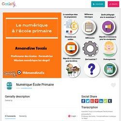 Numérique École Primaire by amandine.touzis on Genially