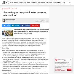 Loi numérique : les principales mesures du texte final