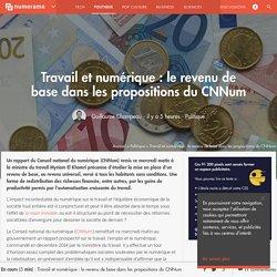 Travail et numérique : le revenu de base dans les propositions du CNNum - Politique