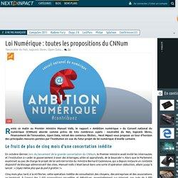 Loi Numérique : toutes les propositions du CNNum