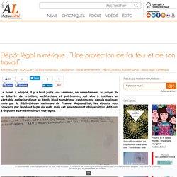 """Dépôt légal numérique : """"Une protection de l'auteur et de son travail"""""""
