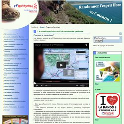 CDRP 50 - Le numérique futur outil de randonnée pédestre