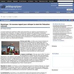 Numérique : Un nouveau rapport pour rattraper le retard de l'éducation nationale