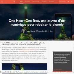 One Heart One Tree, une œuvre d'art numérique pour reboiser la planète - Tech - Numerama
