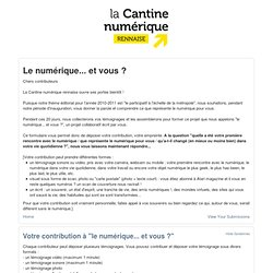 La Cantine numerique rennaise Submission Manager