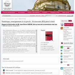 Numérique, renseignement et vie privée : de nouveaux défis pour le droit