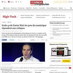 Ecole 42 de Xavier Niel: les pros du numérique répondent aux critiques