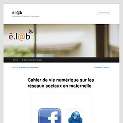Cahier de vie numérique sur les réseaux sociaux en maternelle