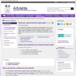 Former au numérique - Séminaire Internet responsable 2012