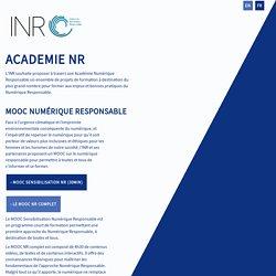 MOOC Numérique Responsable par l'Institut du Numérique Responsable (INR)