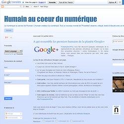 A qui ressemble les premiers humains de la planète Google+