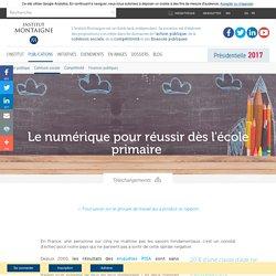 Le numérique pour réussir dès l'école primaire