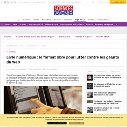 Livre numérique : le format libre pour lutter contre les géants du web - Sciencesetavenir.fr