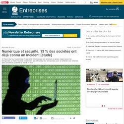 Numérique et sécurité. 13 % des sociétés ont déjà connu un incident [étude]
