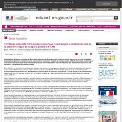 École numérique : neuf projets sélectionnés lors de la première vague de l'appel à projets e-FRAN