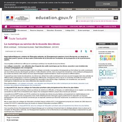 Le numérique au service de la réussite des élèves