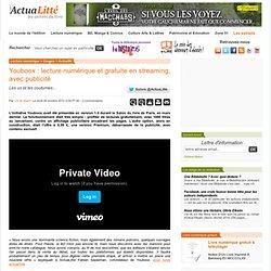 Youboox : lecture numérique et gratuite en streaming, avec publicité