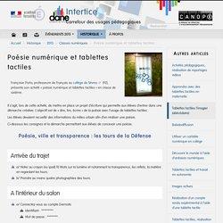 Poésie numérique et tablettes tactiles