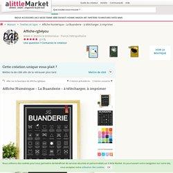 Affiche Numérique - La Buanderie - à télécharger, à imprimer : Textiles et tapis par affiche-rgb4you