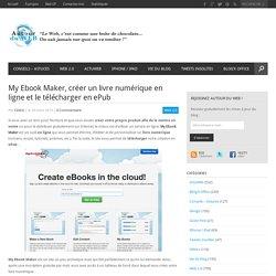 My Ebook Maker, créer un livre numérique en ligne et le télécharger en ePub