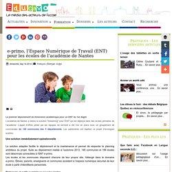 e-primo, l'Espace Numérique de Travail (ENT) pour les écoles de l'académie de Nantes