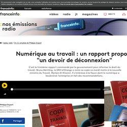 """Numérique au travail : un rapport propose """"un devoir de déconnexion"""""""