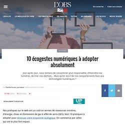 10écogestes numériques à adopter absolument