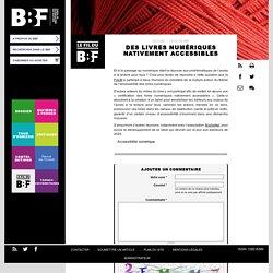 Des livres numériques nativement accessibles