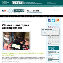 CANOPÉ Limoges : Classes numériques accompagnées