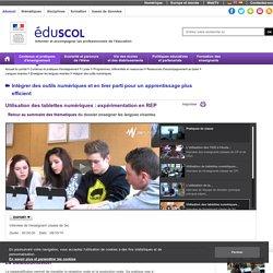 Utilisation des #tablettes en #langue #collège # REP