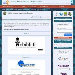 Sélection de livres numériques - Collège Arthur Rimbaud - Aubergenville