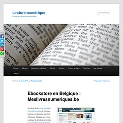 Site de ventes de livres numériques en Belgique