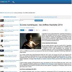 Livres numériques : les chiffres Hachette 2014