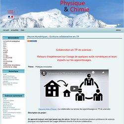 Physique Chimie Académie de Grenoble - Heures Numériques - Ecriture-collaborative-en-TP