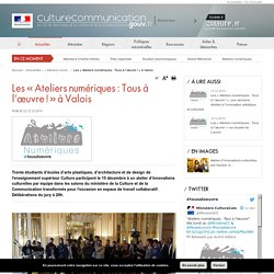 Les « Ateliers numériques : Tous à l'œuvre ! » à Valois