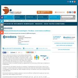 Diffusion de documents numériques : Needocs - sous toutes conditions