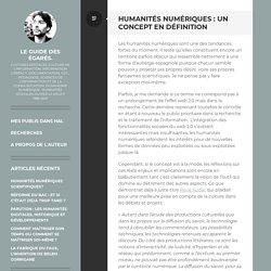 Humanités numériques : un concept en définition: